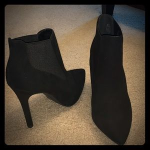 H by Halston - Black Suede Ankle Boots